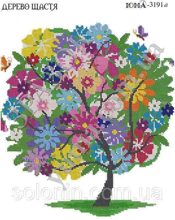"""Схема вышивки крюил """"Дерево счастья&quot 31"""