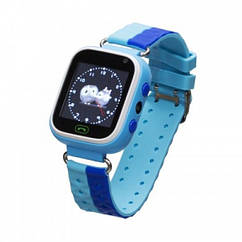 Детские умные часы (смарт часы с GPS + родительский контроль + фонарь) Smart Baby Watch GM7S, (Голубой)