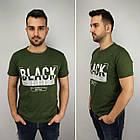 Мужская футболка батал, пр-ва Турция, BLACK, джинс, фото 2