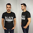 Мужская футболка батал, пр-ва Турция, BLACK, джинс, фото 3