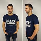 Мужская футболка батал, пр-ва Турция, BLACK, джинс, фото 4