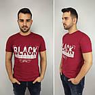Мужская футболка батал, пр-ва Турция, BLACK, джинс, фото 6