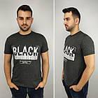 Мужская футболка батал, пр-ва Турция, BLACK, джинс, фото 7