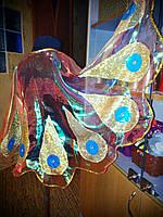 Жар-птица набор № 1 (крылья+головной убор) из радужной органзы р.122-128