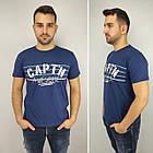 Мужская футболка батал, пр-ва Турция, CAPT'N, белый, фото 2