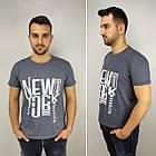 Мужская футболка батал 52-58рр, NEW YORK, белый, фото 2