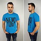 Мужская футболка батал 52-58рр, NEW YORK, белый, фото 3