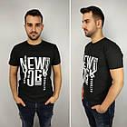 Мужская футболка батал 52-58рр, NEW YORK, белый, фото 4
