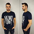 Мужская футболка батал 52-58рр, NEW YORK, белый, фото 5
