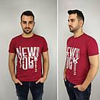 Мужская футболка батал 52-58рр, NEW YORK, белый, фото 7