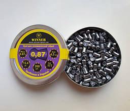 Кулі свинцеві 4.5 мм 0,87 г, 200шт WINNER круглоголові 13494