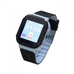 Детские умные часы (смарт часы с GPS + родительский контроль + фонарь)  Smart GM8D, (Голубой)