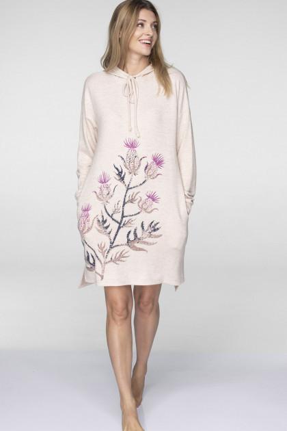 Домашнее платье с капюшоном Key LHD-508, S