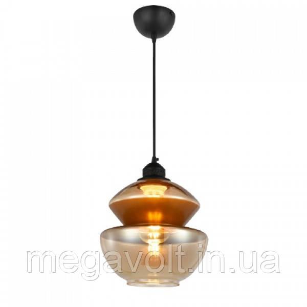 Светильник подвесной  HARMONY-2 янтарный+медь