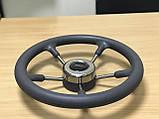 Рулевое колесо Pretech нержавейка 32 см серое, фото 5