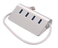 Хаб USB 3.0 4-port TRY алюминий серебр. + белый новый гарантия 12мес!