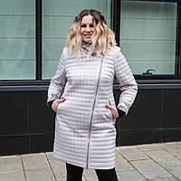 Куртка женская осень-весна БАТАЛ 50-60 молочный