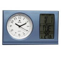 Часы настольные Fuda 2243 BL 87 x 103 x 26 мм с будильником и датой