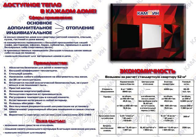 Обогревательные панели Кам-ин. (044) 332-0-332