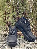 Мужские ботинки кожаные зимние черные Belvas 19157, фото 3