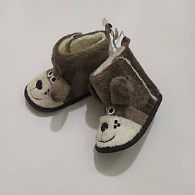 Пинетки-угги Baby club коричневые Собачки р.18 (11см), 20 (12см)