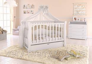 """Дитяче ліжечко Angelo Lux-1 Колір """" білий """""""