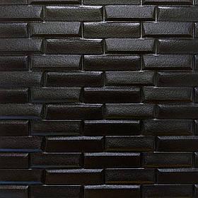 Новинка! 3Д панели самоклеющиеся для стен под кирпич рельефный Черный, 7 мм
