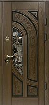 Двері АКЦІЙНІ PRESTIGE 97 №20-53 полімер дуб темний R(лиштва + ручка)