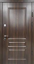 Двері PRESTIGE 87 №20-42 горіх темний (лиштва + ручка )L