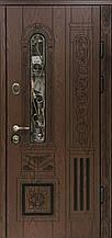 Двері АКЦІЙНІ PRESTIGE 97 №20-58 полімер дуб темний L(лиштва + ручка)