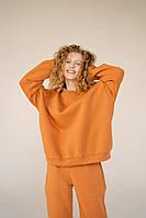 Жіночий Худі на флісі «Однотонний»,тканина - трехнить на флісі з капюшоном(42-46)