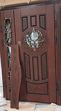 Двері АКЦІЙНІ 117 №134АС R дуб золотий полімер + карниз