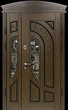 Двері АКЦІЙНІ 117 №133АС L дуб темний полімер + карниз