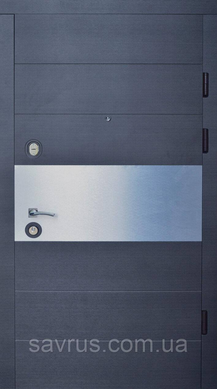 Двері Комфорт 87 мал. Н1 антрацид R (лиштва + ручка)