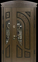 Двері АКЦІЙНІ 117 №133АС Lдуб золотий полімер + карниз