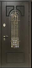 Двері АКЦІЙНІ PRESTIGE 97 №20-50 полімер дуб темний L(лиштва + ручка)