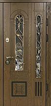 Двері АКЦІЙНІ PRESTIGE 97 №20-51 полімер дуб темний L(лиштва + ручка)