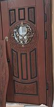 Двері АКЦІЙНІ PRESTIGE 97 №20-54 полімер дуб темний L(лиштва + ручка)
