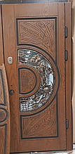 Двері АКЦІЙНІ PRESTIGE 97 №20-55 полімер дуб темний L(лиштва + ручка)