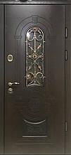 Двері АКЦІЙНІ PRESTIGE 97 №20-57 полімер дуб темний L(лиштва + ручка)