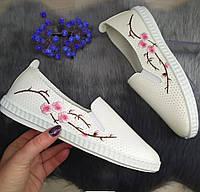 Женские мокасины СВ 2015 бел/роз, фото 1