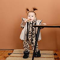"""Детский ромпер с капюшоном """"Rolan"""", цвета в ассортименте. Размеры от 62 до 80 Леопард"""