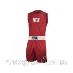 Форма для соревнований TITLE Choice Performance Amateur Boxing XL красный + сертификат на 50 грн в подарок