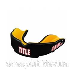Капа гелевая TITLE GEL Victory Mouthguard взрослый чёрный/жёлтый (код 179-572900)