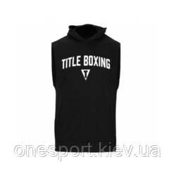 Кенгурушка без рукавов TITLE Boxing Ripped Muscle Hoody Tee M чёрный + сертификат на 50 грн в подарок (код