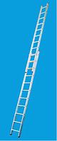 Лестница двухсекционная алюминиевая бытовая KRAUSE Corda 2*9 ступеней