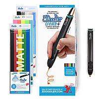 3D-ручка 3Doodler Create PLUS для проф. використання - ЧОРНА (75 стрижнів, аксесуари), фото 1