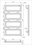 Полотенцесушитель Genesis-Aqua Quattro 100x53 см, фото 2