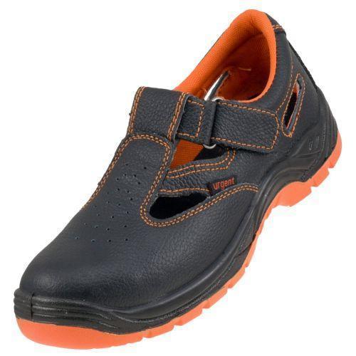 Сандалі 301 SB з металевим носком, чорно-помаранчевого кольору. Urgent (POLAND)