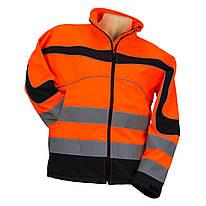 Куртка STRZEGAWCZY POMARAŃ со светотражающими полосами, черно-оранжевого цвета. Urgent